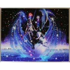 Картина с кристаллами Swarovski Близнецы Кагая