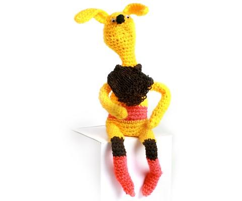 Заяц Лимон. Вязаная кукла