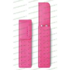 Розовый кожаный футляр Cross для двух ручек