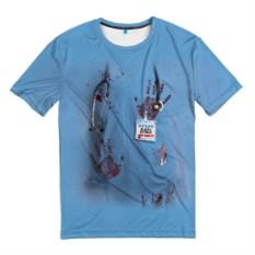 Мужская 3D-футболка Костюм врача кровь