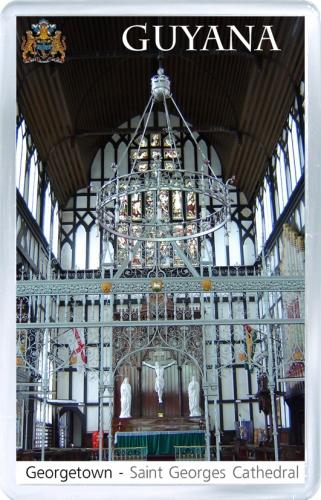 Магнит: Гайана. Собор Святого Георгия (Джорджтаун)