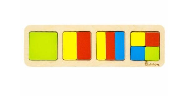 Пазл Дроби: квадраты