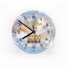 Настенные часы «Снежная сказка 2018»