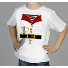 Белая детская футболка halloween Костюм пирата