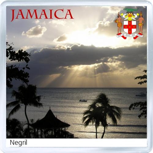 Магнит на холодильник: Ямайка. Закат в Негриле