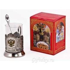 Набор для чая Россия в красной коробке