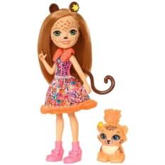Кукла со зверюшкой Mattel Enchantimals Чериш Гепарди