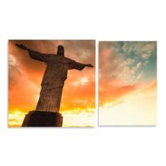 Модульная картина Статуя Христа-Искупителя