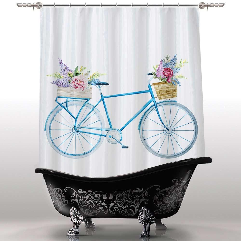 Шторка для ванны Велосипед