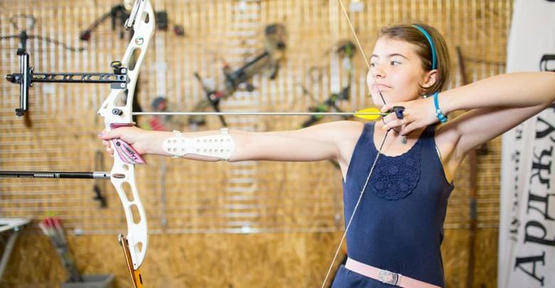 Стрельба из лука для одного взрослого и двух детей