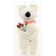 Мягкая игрушка Кот с цветами