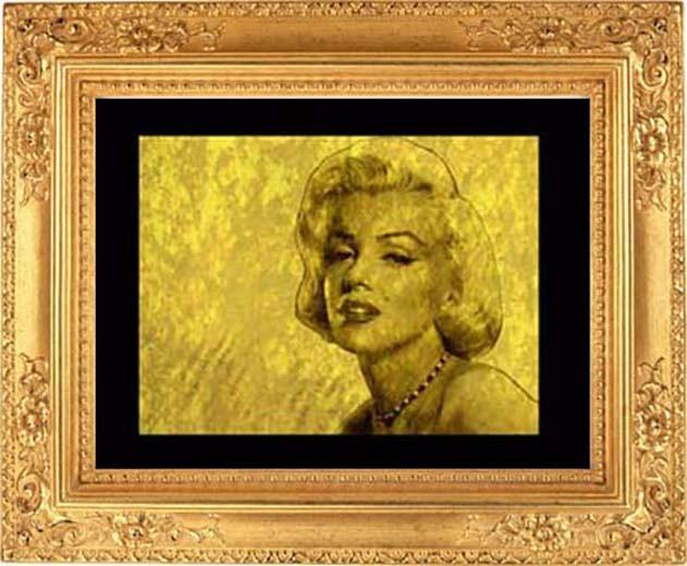 Гравюра из золота по фото