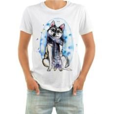Мужская футболка Собака в шарфе