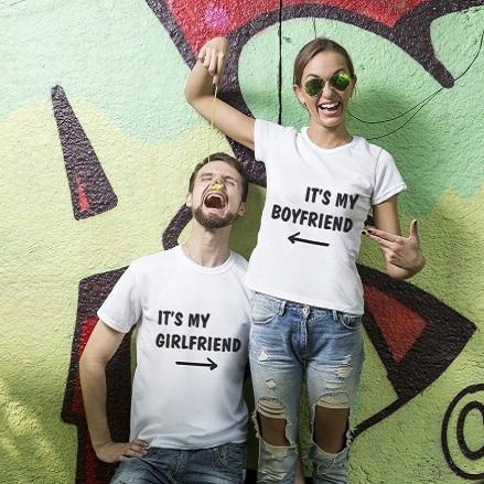 Парные футболки «Это мой парень»
