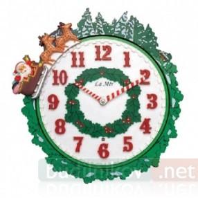 Часы музыкальные настенные «Рождественский Санта»