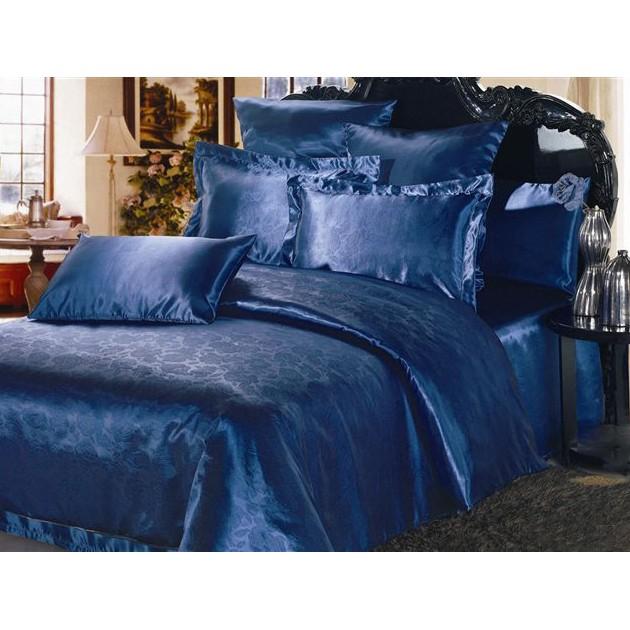Комплект постельного белья NAVY BLUE (тиснение)