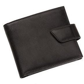 Черный кожаный кошелек ALVARO