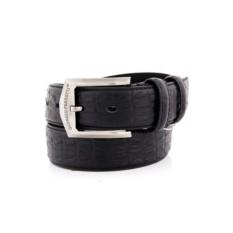 Черный мужской кожаный ремень тип 90-3