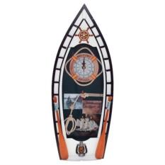 Ключница в виде лодки с кораблем и узлами