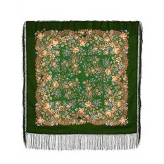 Павлопосадский шерстяной платок с рисунком Мария