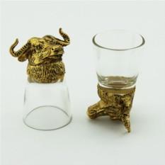Набор рюмок-перевертышей с головами животных Бык