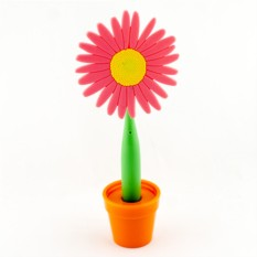 Ручка-цветок на подставке Красная Астра