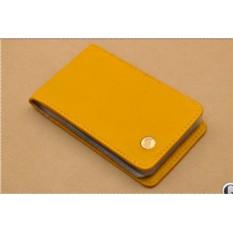 Карманная визитница . Коллекция G.Design (желтый; тип 1; нат. кожа)