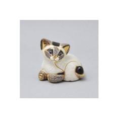 Керамическая статуэтка Сиамский котёнок клубком