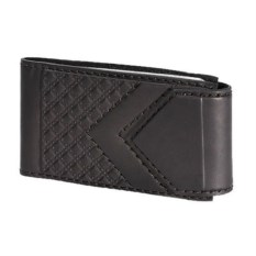 Черная карманная визитница из кожи на 32 карточки