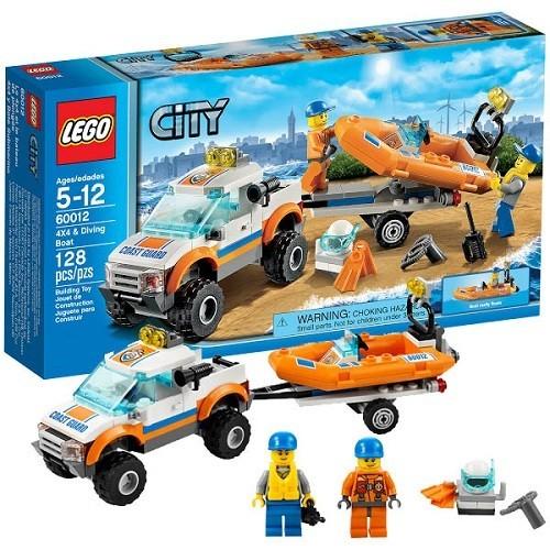 Конструктор Lego City Внедорожник и катер водолазов