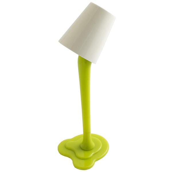 Настольная зеленая ручка-лампа