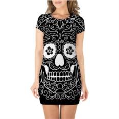 3D платье с короткими рукавами Мексиканский череп