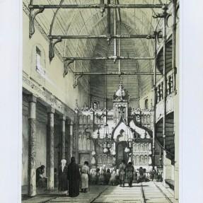 Интерьер деревянной церкви около Кинешмы