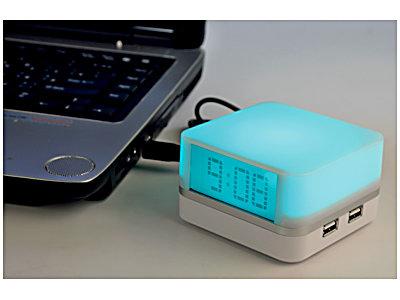 USB-хаб — часы с подсветкой