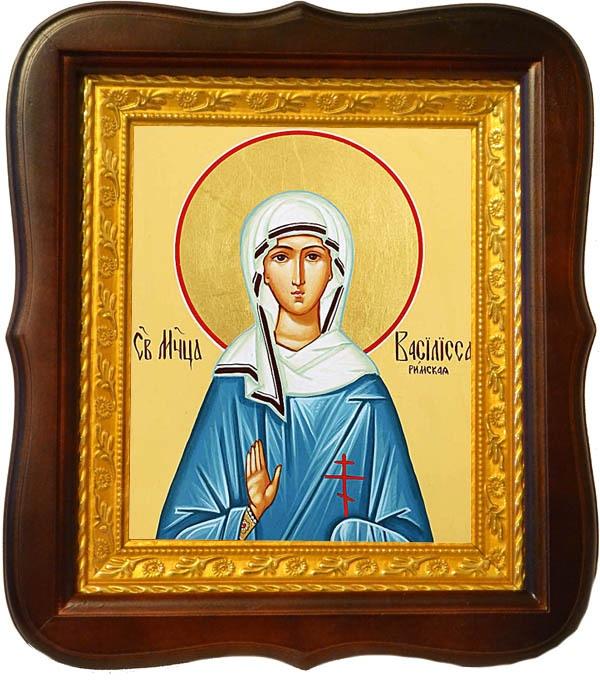Василисса Римская Святая  мученица. Икона на холсте.
