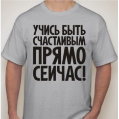 Мужская футболка Прямо сейчас