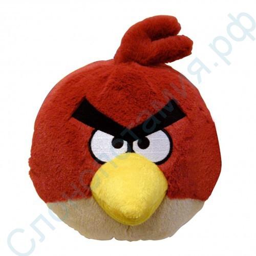 Мягкая игрушка – красная птичка Angry Birds со звуком