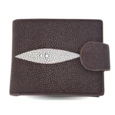 Мужской кошелек из кожи ската с отделениями для документов