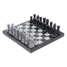 Мраморные шахматы Змеевик