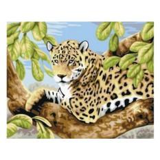 Набор для вышивки стразами «Леопард на ветвях»
