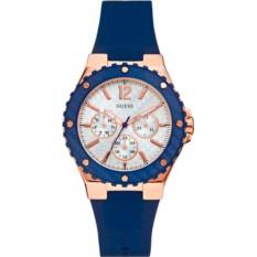 Золотисто-синие наручные часые Guess