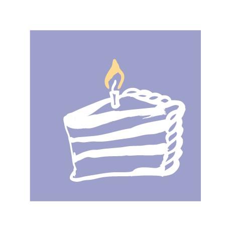 Мини-открытка С днем рождения!