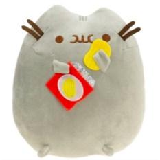 Мягкая игрушка Кот Пушин с чипсами, 15 см