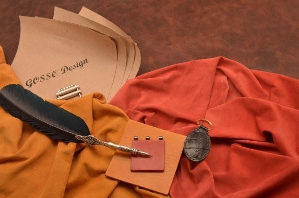 Черный кожаный брелок для ключей Amelie