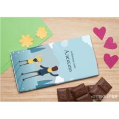 Шоколадная открытка «Любимому папе»