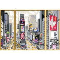 Триптих по номерам Ravensburger Таймс-Сквер