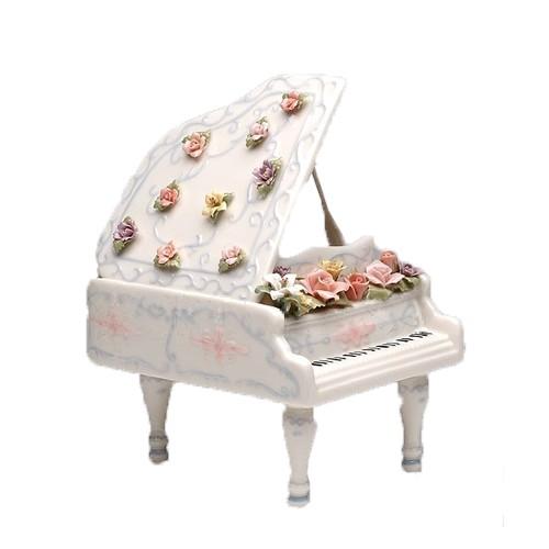 Музыкальная фигурка Рояль в цветах