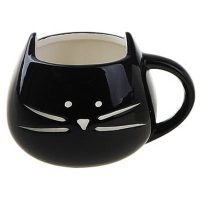 Кружка Котик (черная)