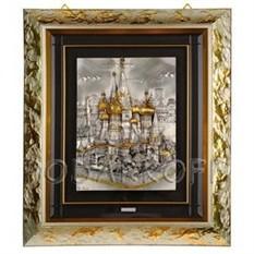 Картина на серебре «Собор Василия Блаженного»
