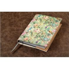 Ежедневник из кожи Винтажный цветочный паттерн